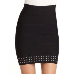 BCBGMAXAZRIA Black Bandage Mini Skirt